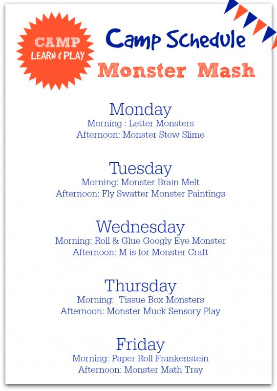Monster Week Camp Learn & Play