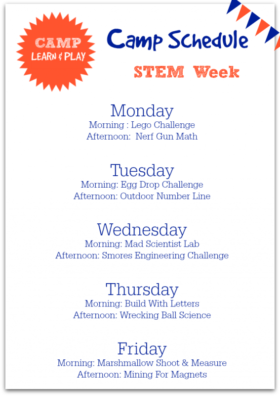 STEM summer camp lesson plans