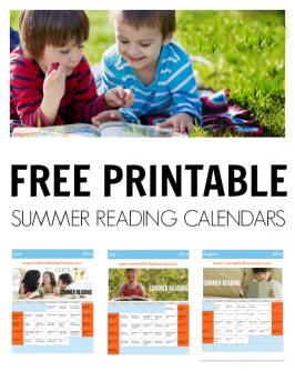 Summer Reading Calendars 2016
