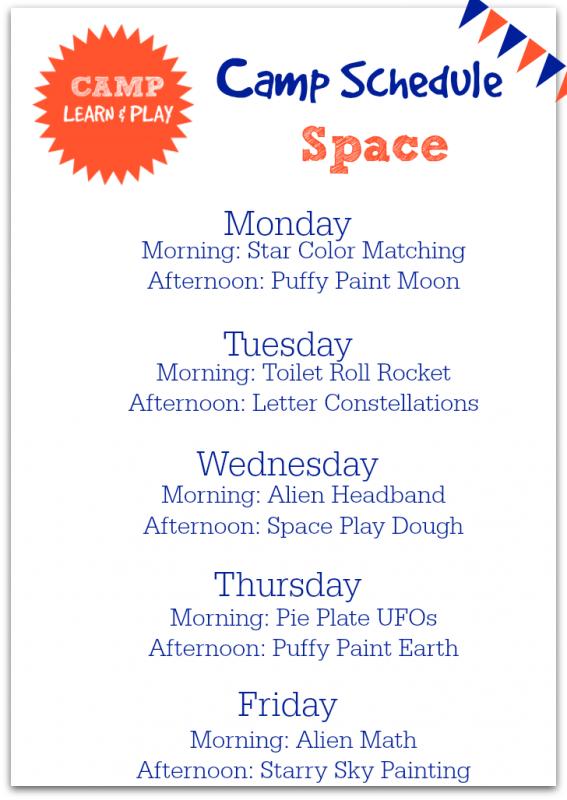 Space Week Camp Learn & Play