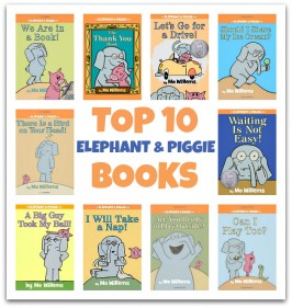 Top 10 Elephant & Piggie Books and A Look At The Thank You Book by Mo Willems