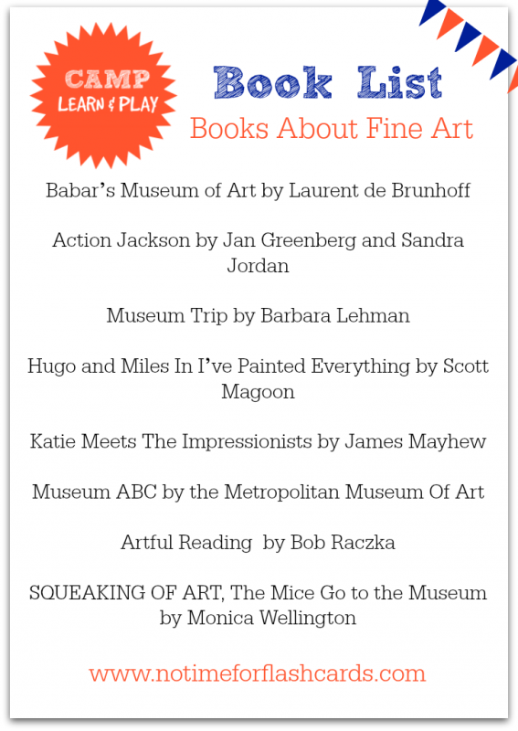 free printable book list fine art books for kids no time for flash cards