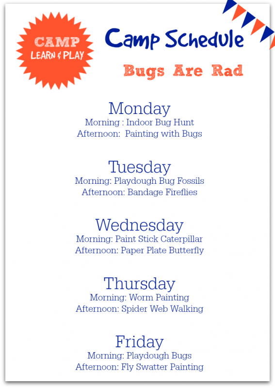 bug activities for preschool