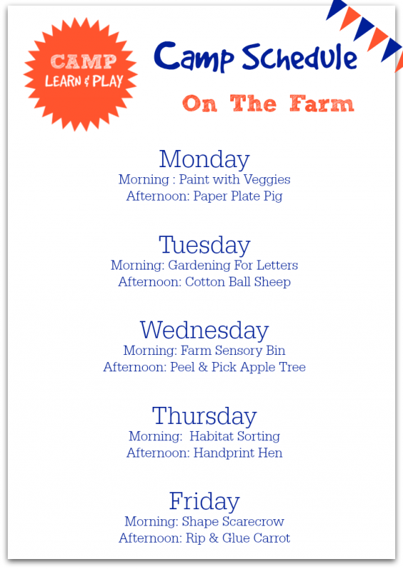 farm theme ideas for preschool and day care