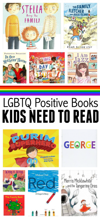 LGBTQ positive books for kids from no time for flash cards
