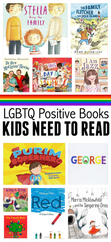 LGBTQ books for kids from no time for flash cards