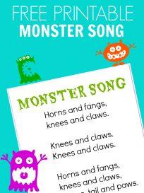 MONSTER SONG FOR PRESCHOOL