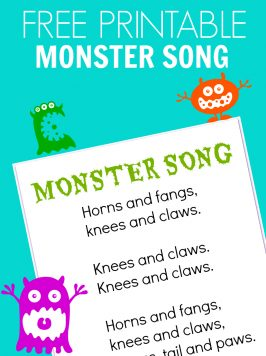 Monster Song – FREE PRINTABLE