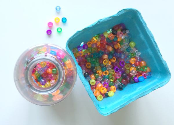 alphabet bead discovery bottle and letter match no time for flash cards