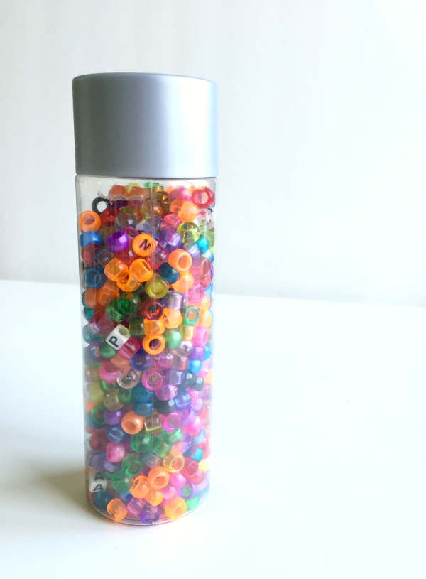 alphabet bead discovery bottle no time for flash cards