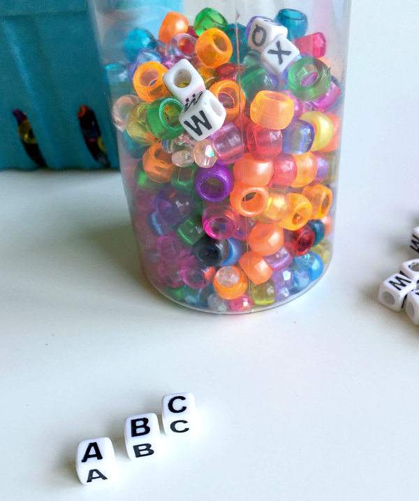alphabet discovery bottle for preschool no time for flash cards