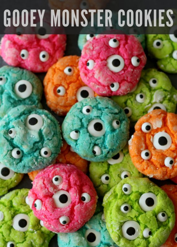 gooey monster cookies from lilluna