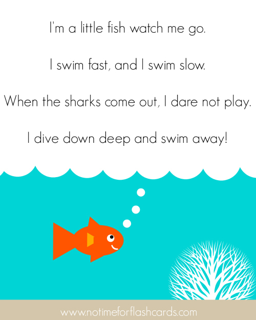 little fish song for preschool no time for flash cards