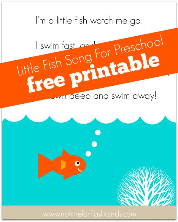 photo about Printable Go Fish Cards titled Tiny Fish Track for Preschool - No Year For Flash Playing cards