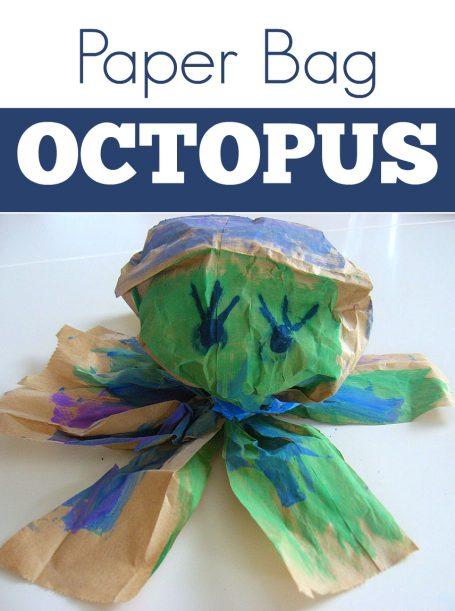 paper bag octopus craft for kids