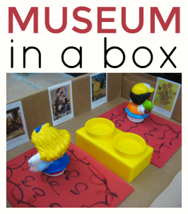 ART MUSEUM pretend play preschool