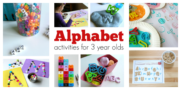 Alphabet activities for 3 year olds no time for flash cards for Painting ideas for 4 year olds