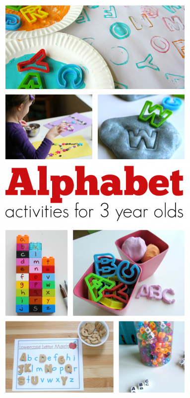 Alphabet Activities For 3 year olds - No Time For Flash Cards