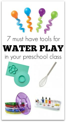 classroom supplies for preschool must have for water play