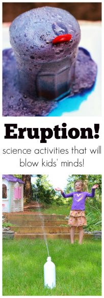eruption science - part of no time for flash cards summer STEM lab series of great science activities for kids.