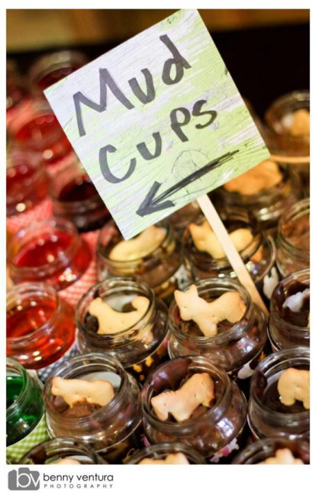 mud cups from kara's party ideas