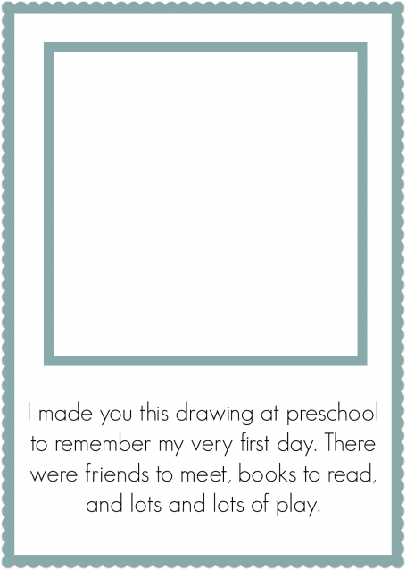 photo relating to First Day of Preschool Free Printable titled Initial Working day Of Preschool Keepsake - Cost-free Printable - No Season