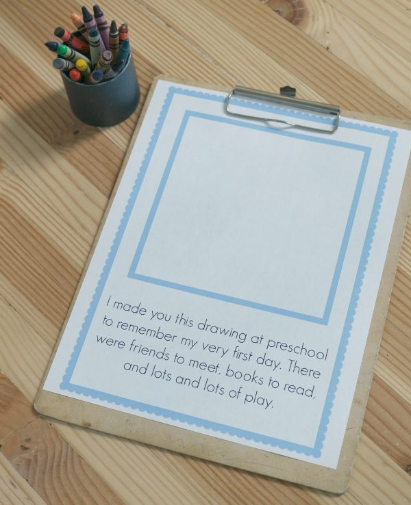 First Day Of School Printable Keepsake