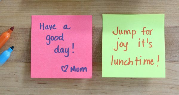 lunch box notes for kids #makeitstick #ad