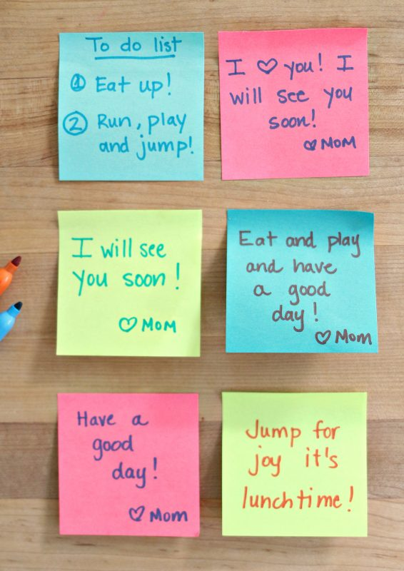 sight word lunch box notes #makeitstick with 3m