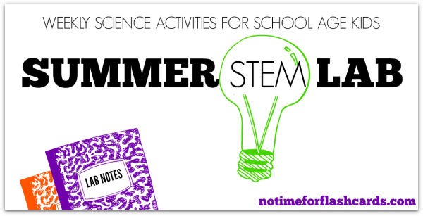 summer stem lab no time for flash cards