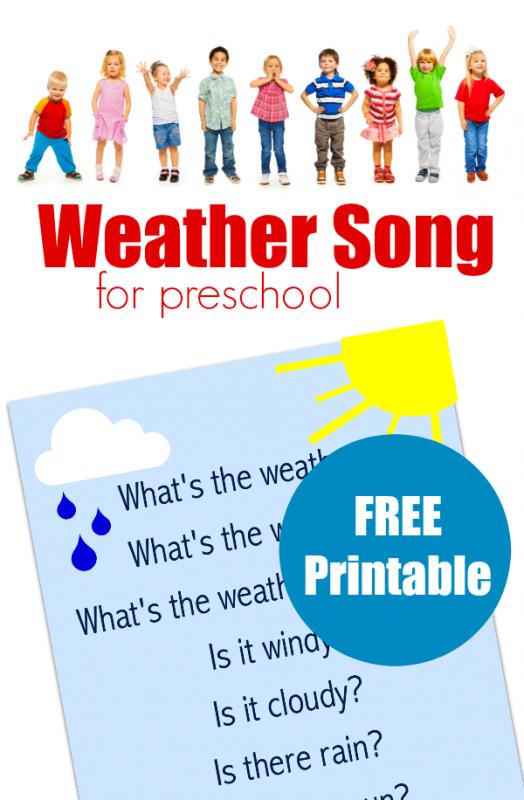 weather song for preschool