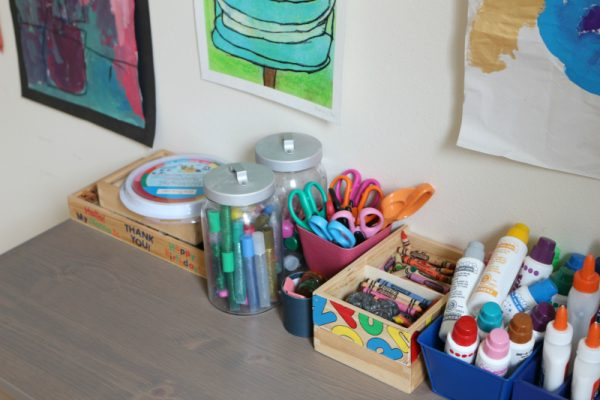 Art Supplies for maker space at home