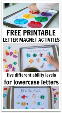 Magnetic letter activities for preschool and kindergarten