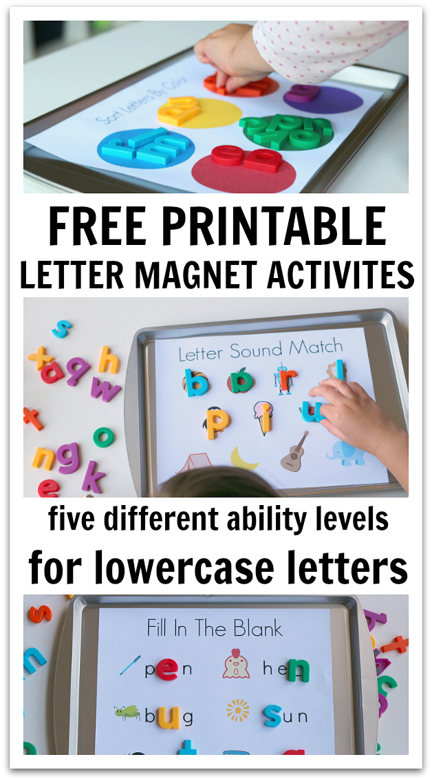 5 Ways To Use Magnetic Letters Free Printables No Time For Flash
