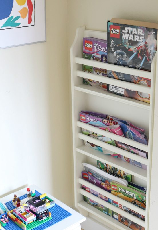 How to make a maker space lego nook book rack