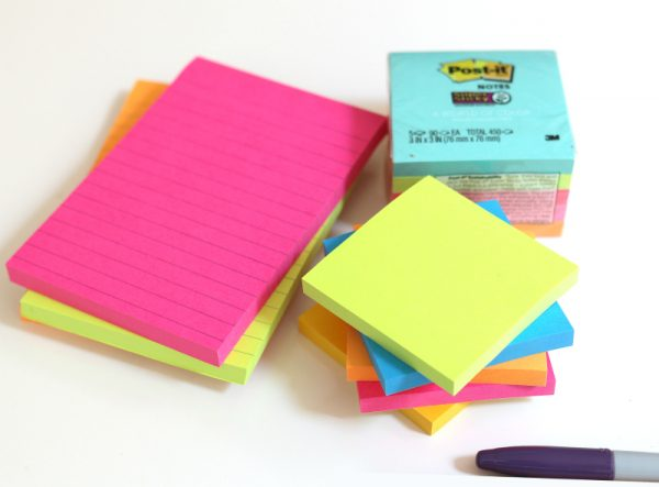 Post-it Notes Math #makeitstick