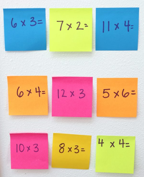 Post - it Notes Math Game #makeitstick
