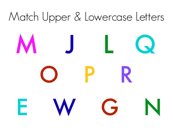 UPPER AND LOWERCASE MATCH MAGNETIC LETTERS