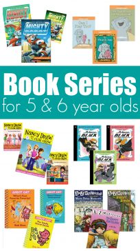 Great book series for 5 & 6 year olds, these are fun, silly, engaging books for kids in kindergarten and first grade. I know because my kids couldn't put them down!