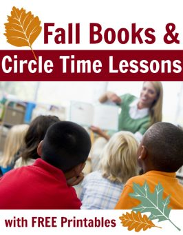 fall circle time lessons for preschool with free printables from no time for flash cards