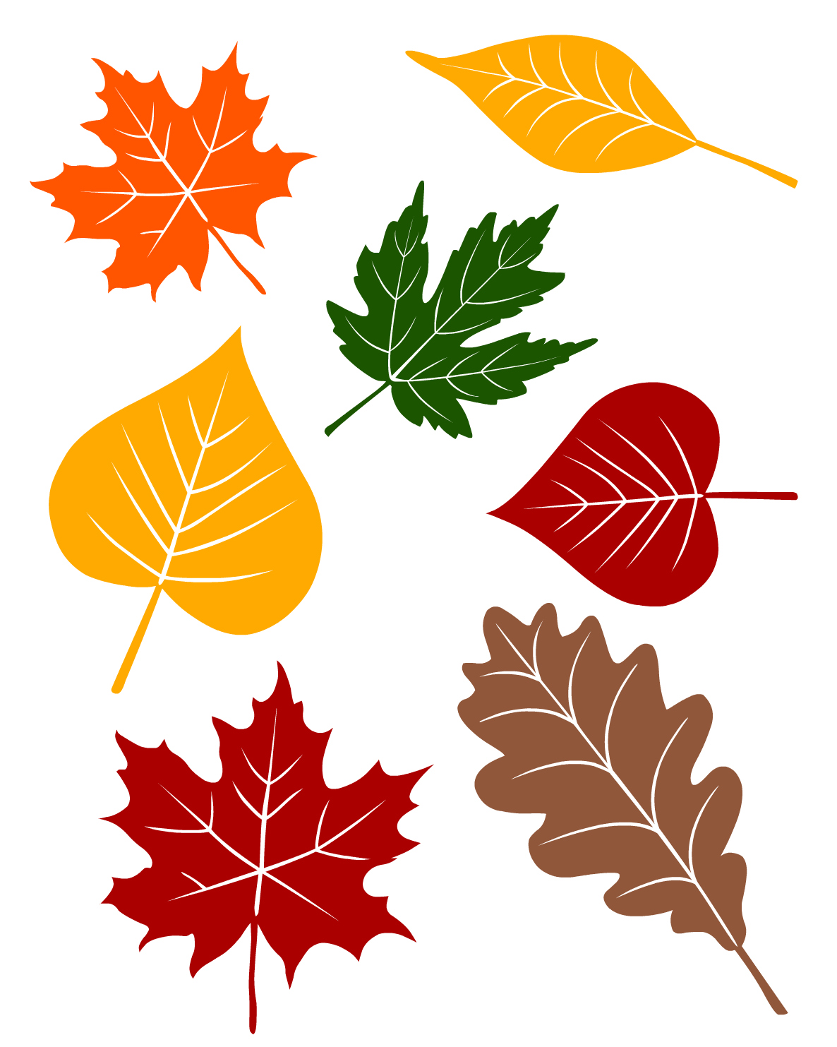 Fall leaves printable from no time for flash for Autumn leaf template free printables