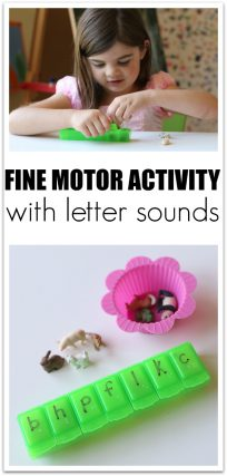What a fun fine motor activity with letter sound matching . Great for kindergarten or PreK literacy centers.