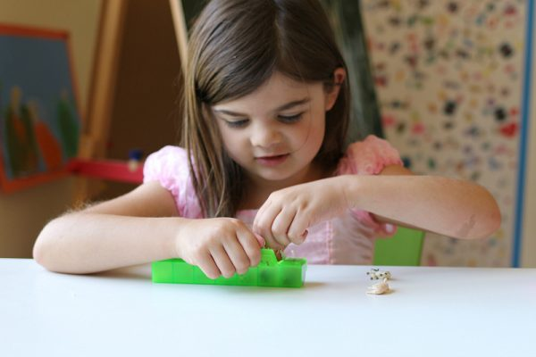 fine motor activity with letter sound matching for PreK