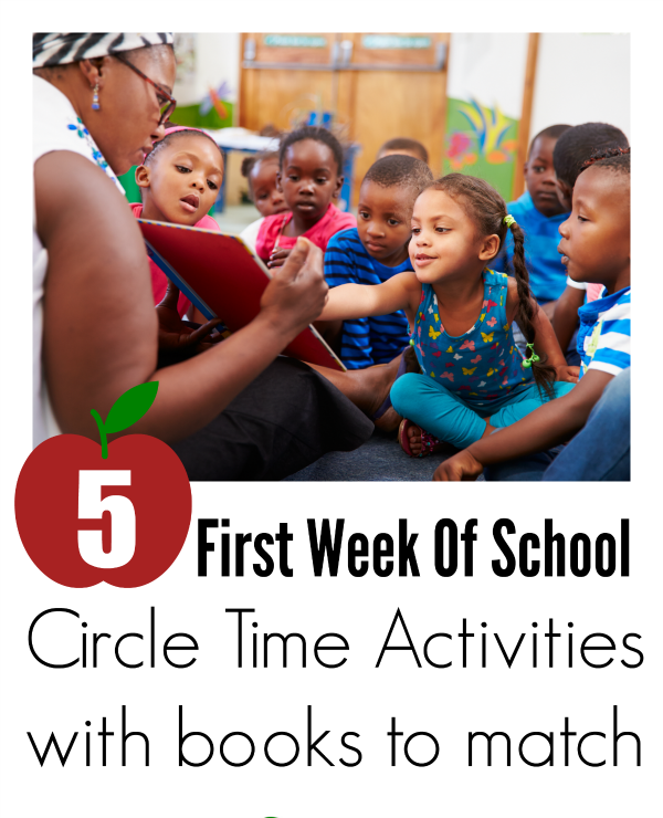 circle time activities and books for the first week of preschool no time for flash cards. Black Bedroom Furniture Sets. Home Design Ideas