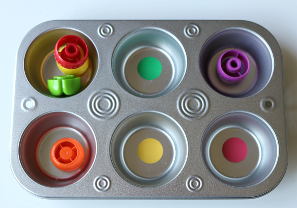 food pouch lid sorting trays for toddlers