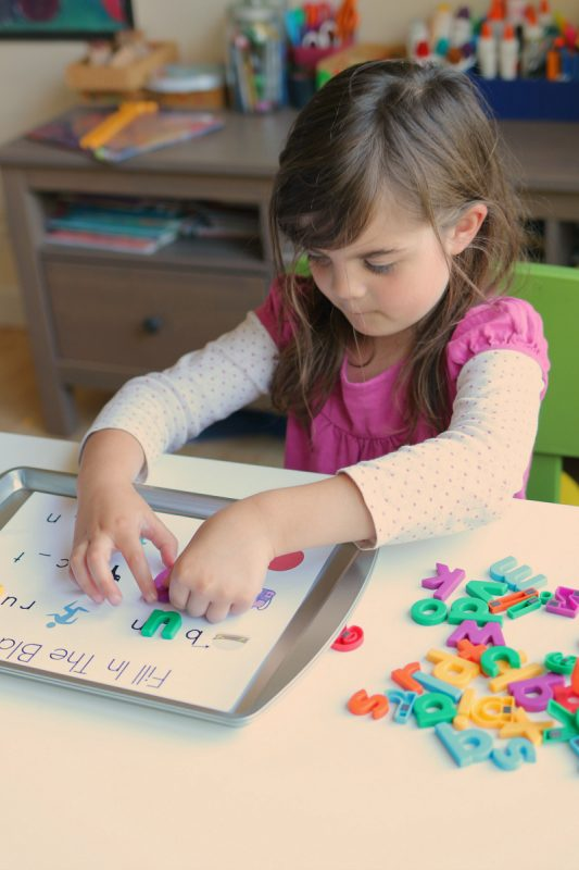 free choice lowercase letter magnet activities for kindergarten