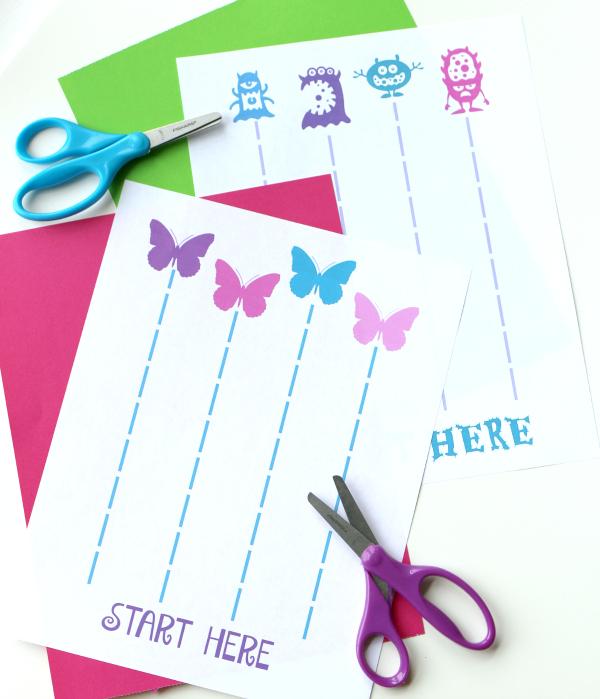 FREE printable cutting sheets