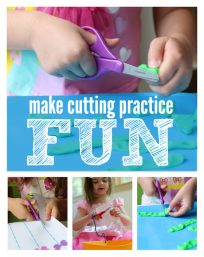 make cutting practice fun activities with #fiskars #ad