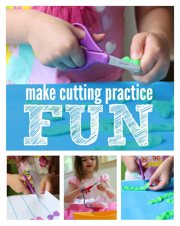 make cutting practice fun activities with #fiskars #ad