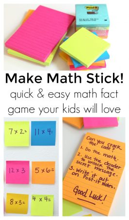 Math game with Post-it Notes #makeitstick